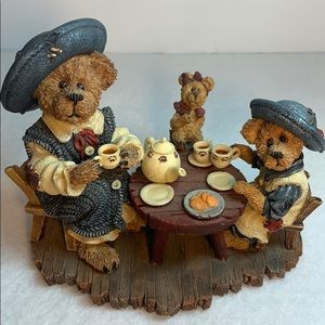 VNTG Boyds Bears Private Issue -Tea For Three 1999